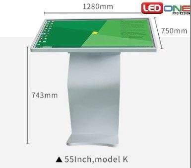 Kích thước tổng thể của màn hình cảm ứng LCD chân quỳ 55 inch